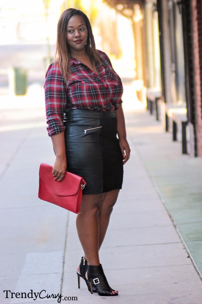 Plaid Leather