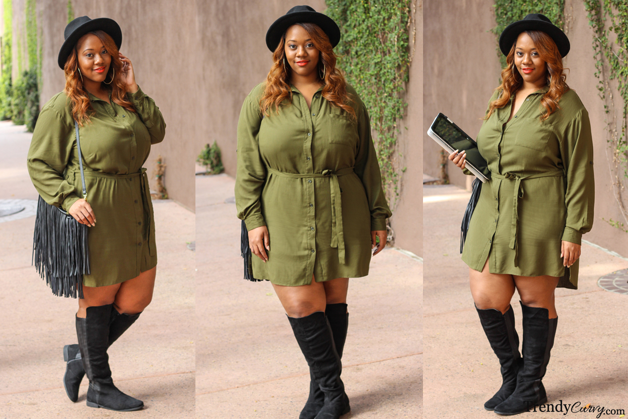 03bb4d9b4d9 4 Ways to Wear a Shirt Dress - Trendy CurvyTrendy Curvy