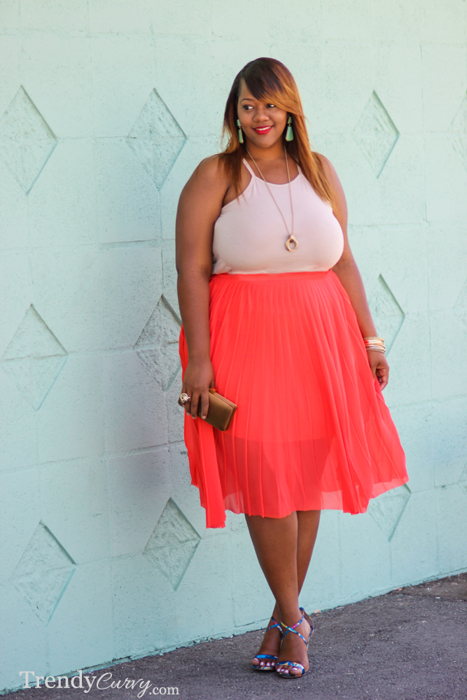 Coral Pleats 1