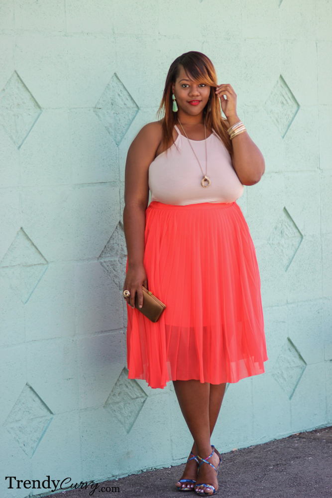Coral Pleats 2