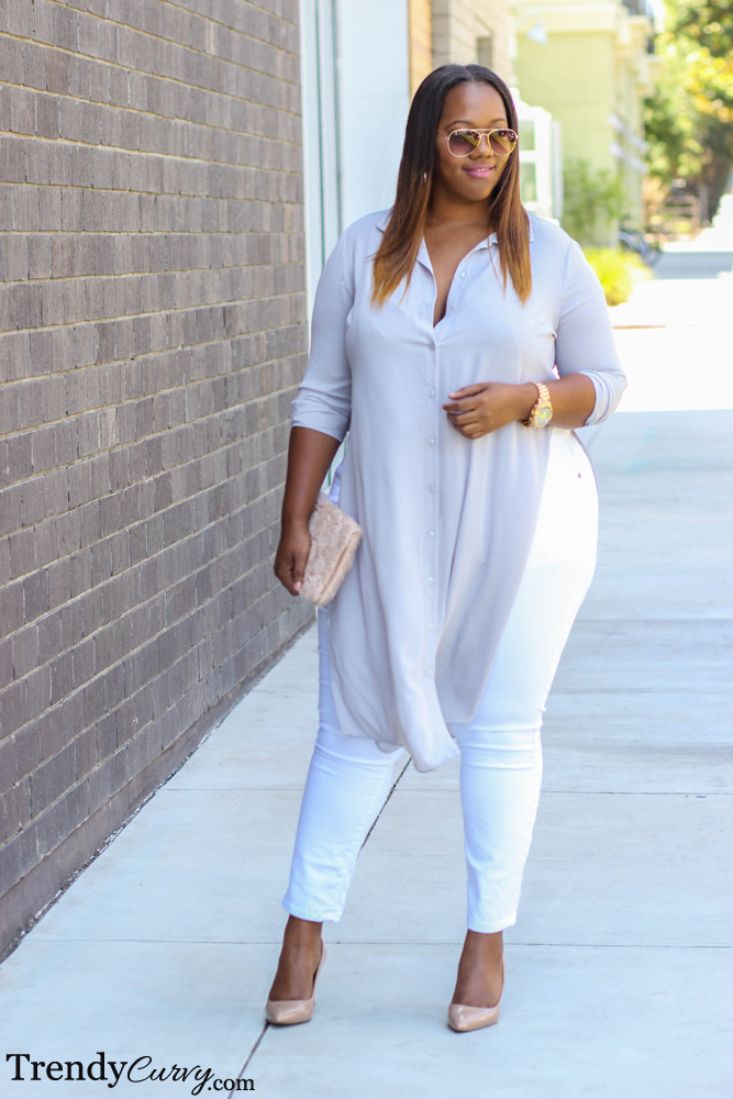 Cleanse your palette trendy curvytrendy curvy for Thick white shirt womens