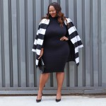 Earning my stripes! Love this coat from simplybeusa iamtrendycurvy psbloggerhellip