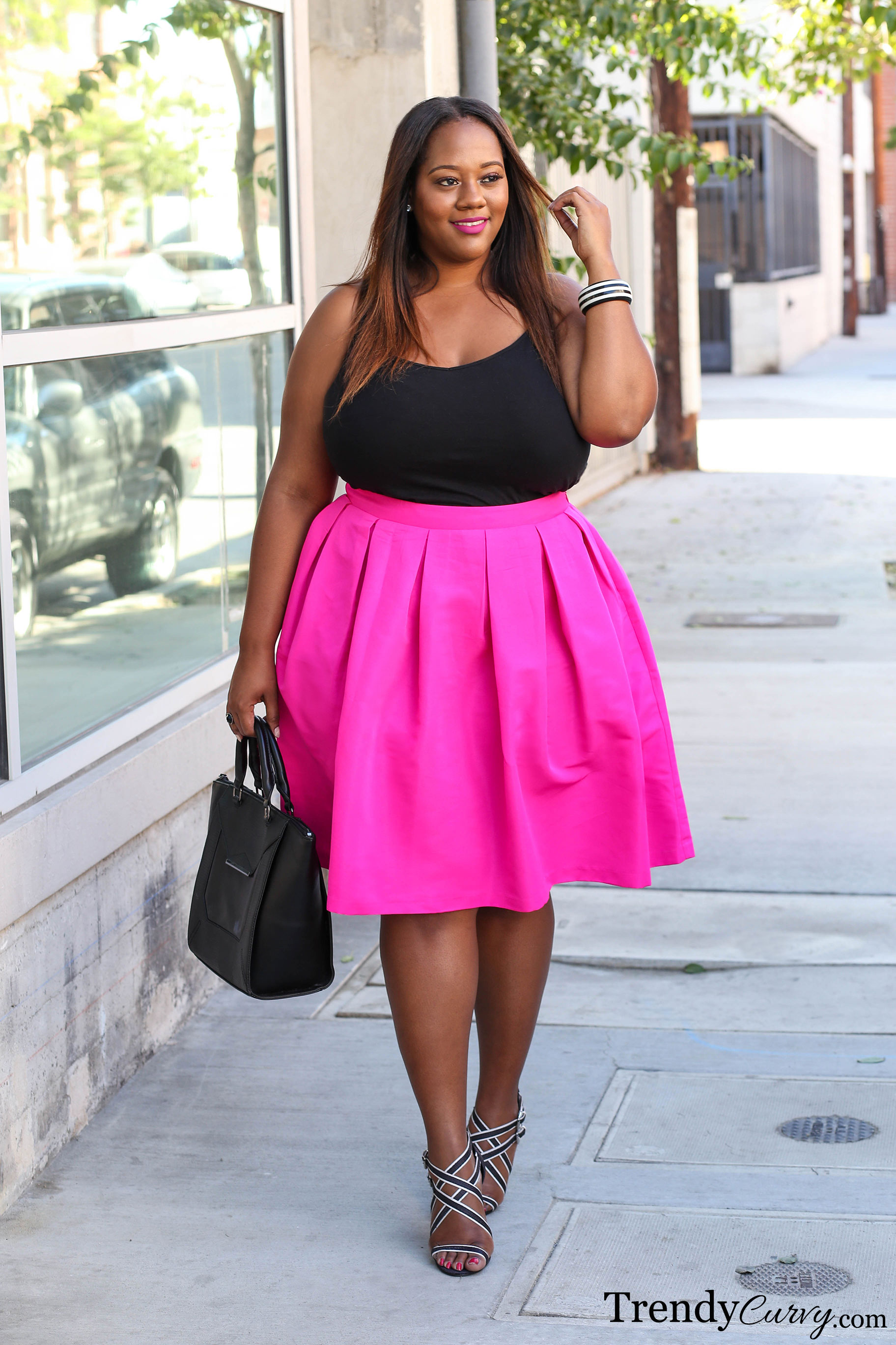 Plus Size Trendy Pink Summer Dresses 114