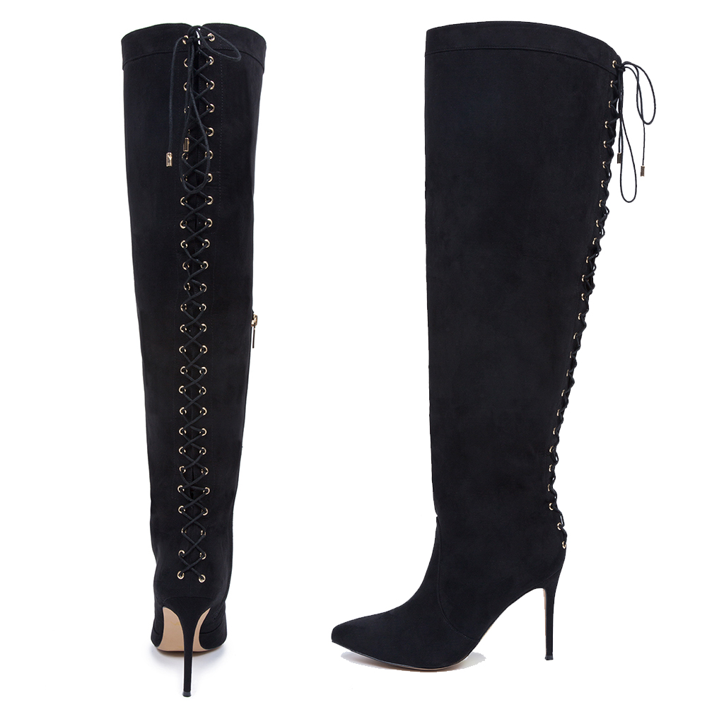 f85cc86eeda Over The Knee Lace Up Boot (above) found here – 30% off with code  FALLBACK
