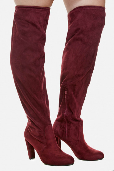b1fb3c5d533 daisy-w kristina01 2492. Wine High Heel Over The Knee Boots ...