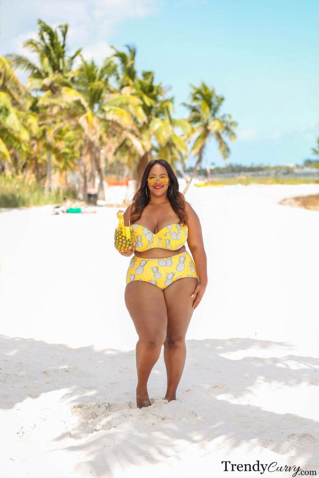 Pineapple Print Swimsuit