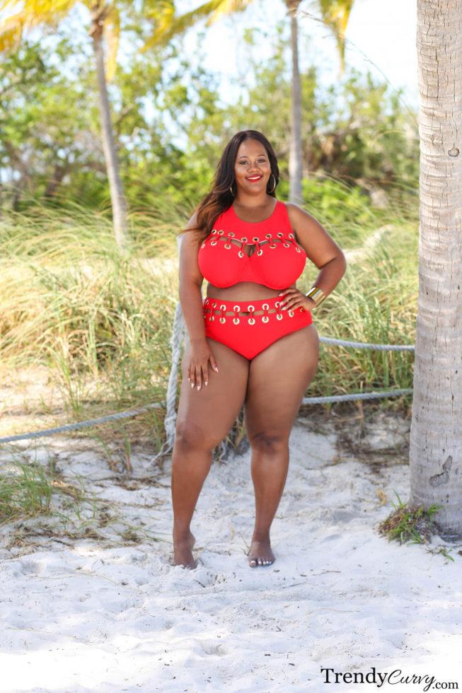 Red Plus Size Bikini