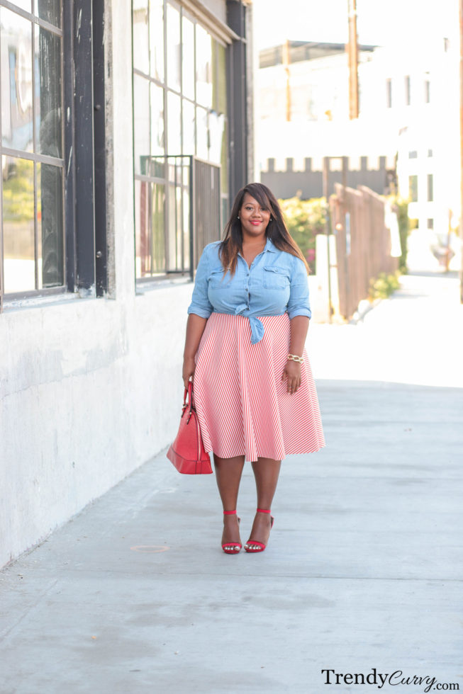 plus size midi skirt