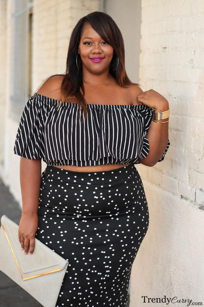 Fashion to Figure Striped Crop Top